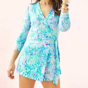 Lilly Pulitzer Karlie Wrap Romper XS NWT